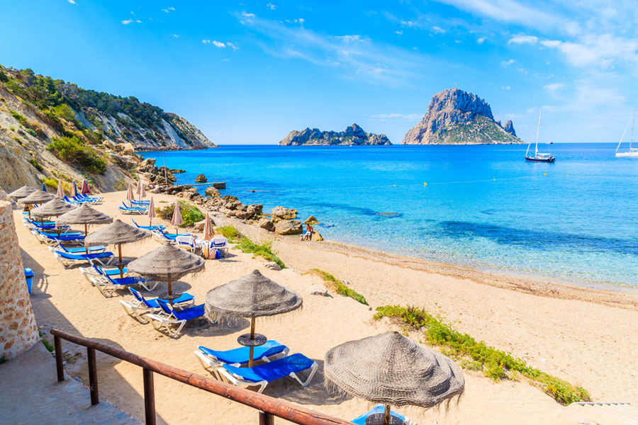 beaches in the south of Ibiza near your luxury villa