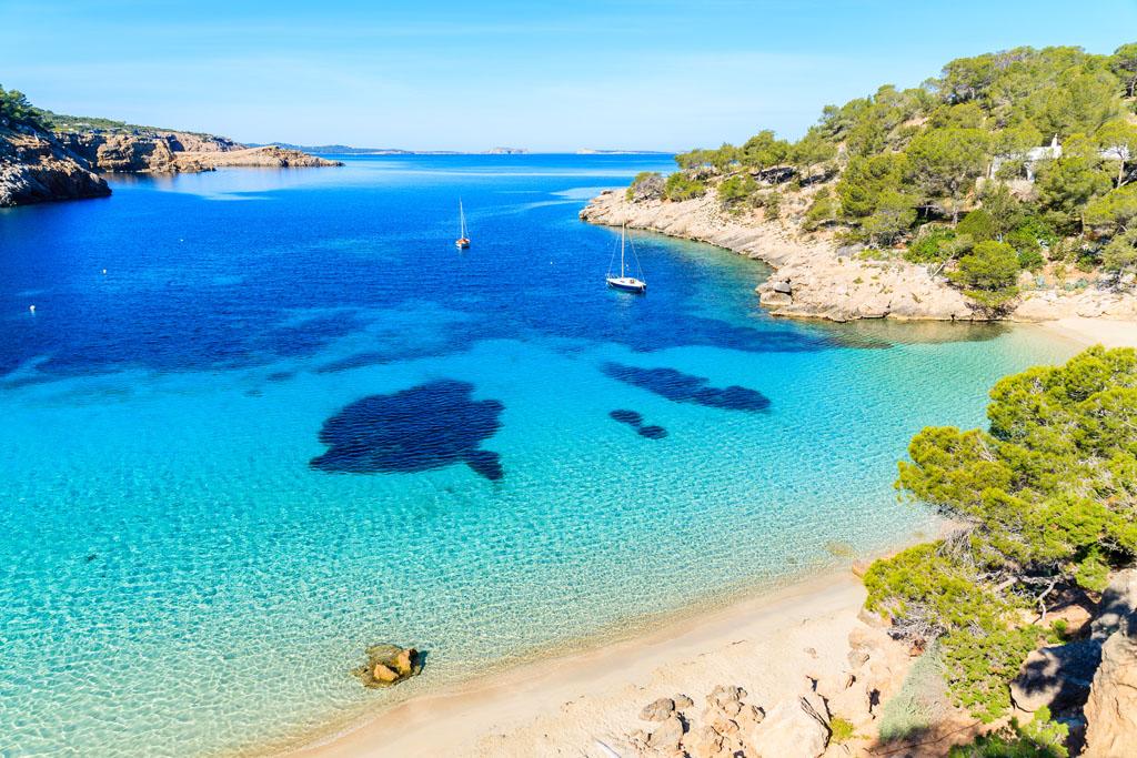 best beaches west Ibiza, The best beaches of the western coast of Ibiza