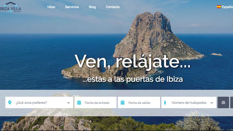 web rental villa ibiza, Ibiza Villa renews its website